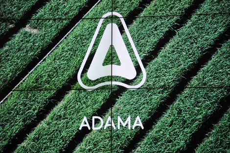Das Logo des neuen Pflanzenschutzunternehmens Adama mit drei Tiefen. Die Mitte soll den Landwirt symbolisieren, umgeben von der Agrarwirtschaft und schliesslich der Welt insgesamt.