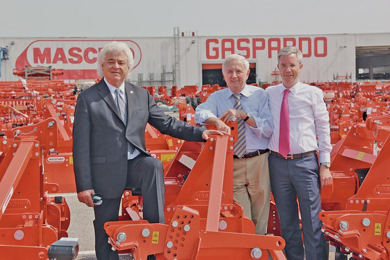 Sie wollen Maschio an die Boerse bringen (v.l.): Egidio Maschio, Walter Faltner und Peter Faltner.